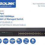 Prolink 24-port gigabit SFP managed switch PSG2401M-A