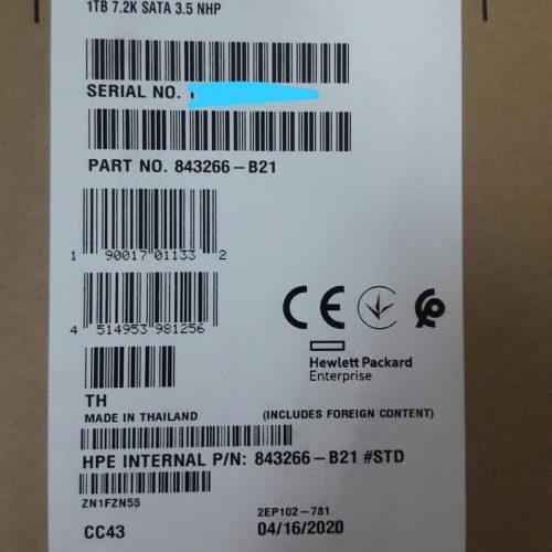 843266-B21 HDD Server HPE 1TB 6G SATA 7.2K rpm 3.5″