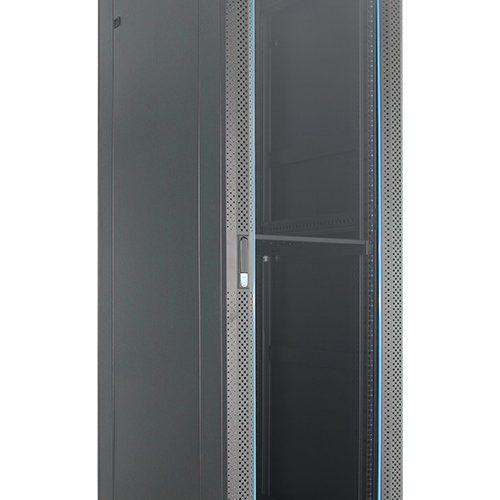 Standing Close Rack 19Inch 45U Depth 900mm – Glass Door Indorack IR9045G