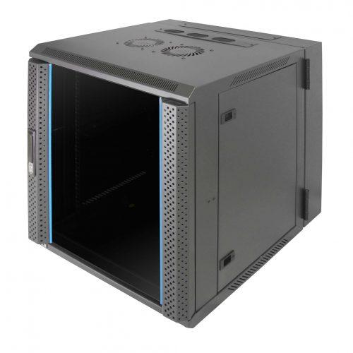 Indorack WIR6010D Wallmount Rack 19inch Double Door Glass Door 10U Width 600mm Depth 600mm